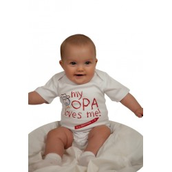 "White ""My Opa Loves Me"" Onsie"