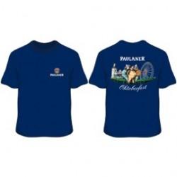 Unisex Blue Paulaner Oktoberfest T-Shirt (2 sided print)