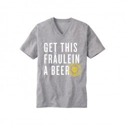 "Blue ""Get This Fraulein A Beer"" T-Shirt"