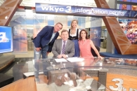 WKYC's Jim Donovan & Betsy Kling with Adam & Candyce