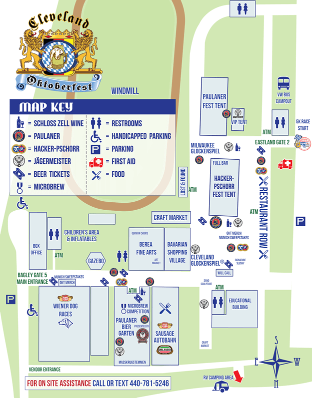 Map of Grounds - Cleveland OktoberfestCleveland Oktoberfest Cleveland Map on