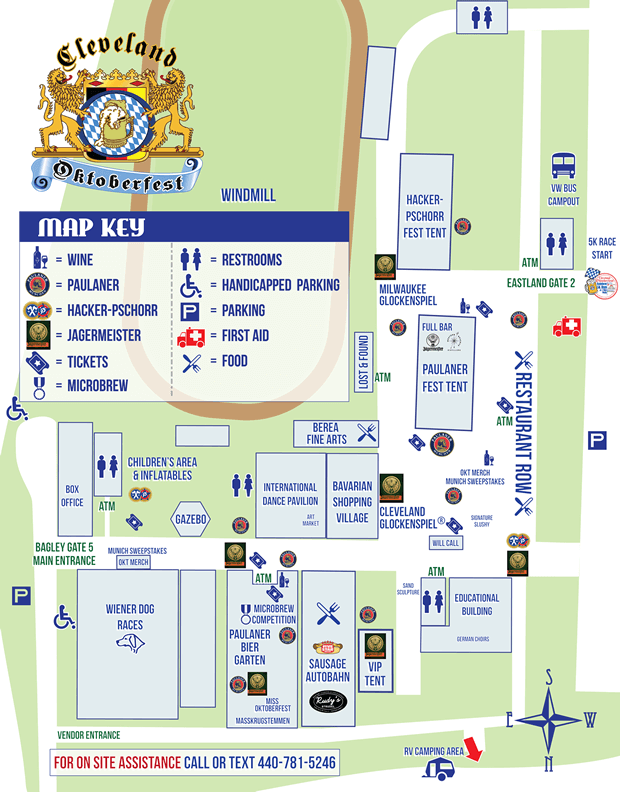 Cuyahoga County Fairgrounds - Oktoberfest Map