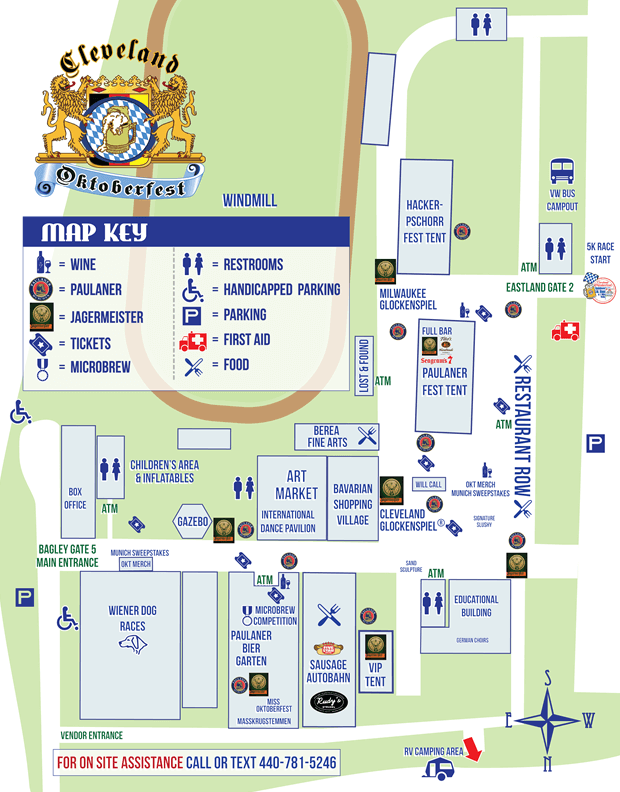 2021 Cleveland Oktoberfest Map of Grounds
